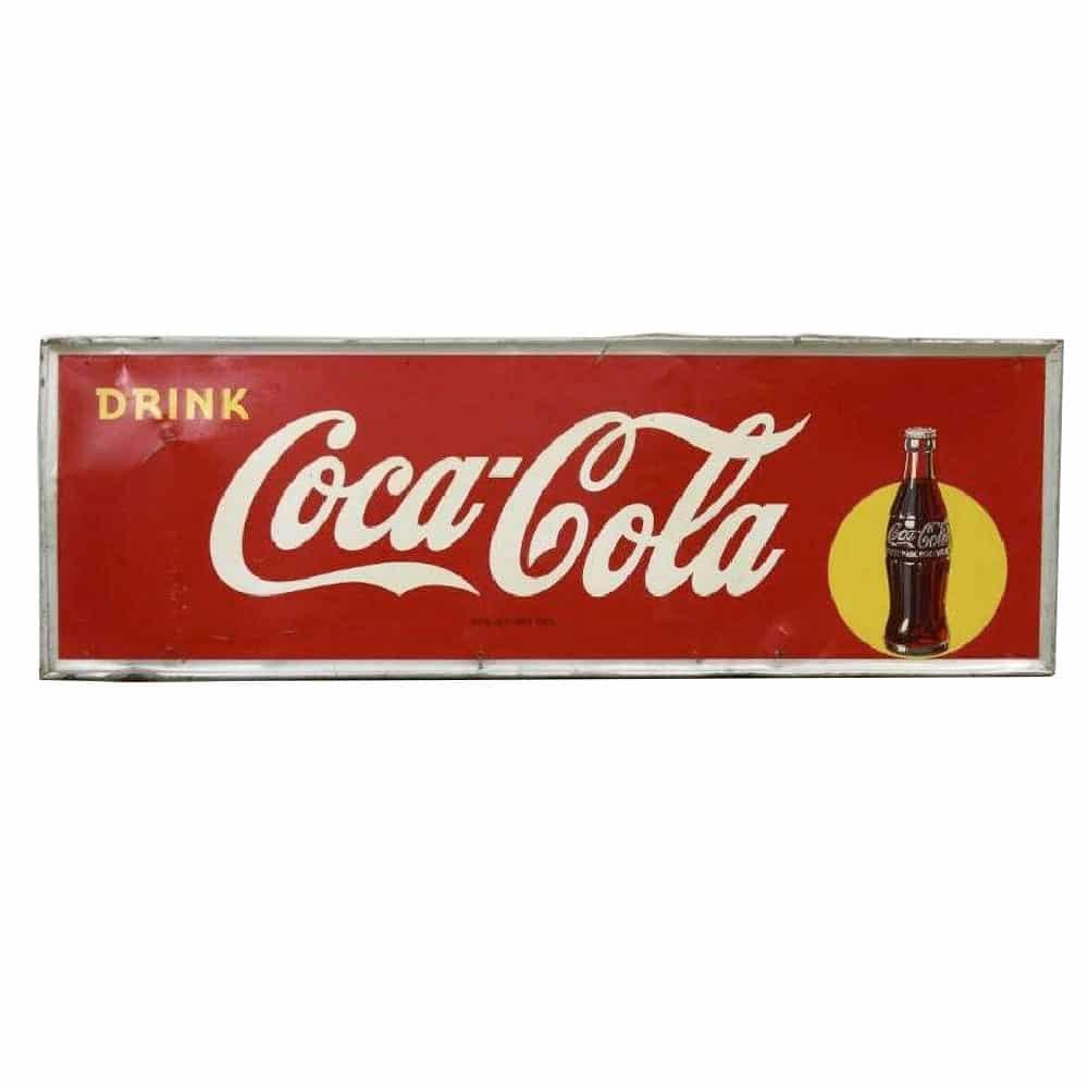 1948 Coca Cola Embossed Metal Sign