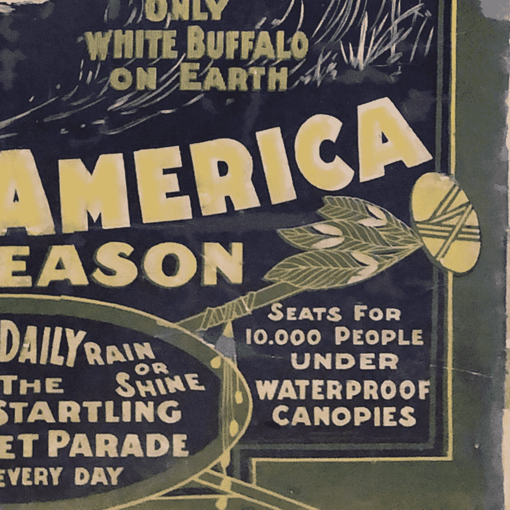1903 PAWNEE BILL Wild West Show Poster - Peekaboo Gallery
