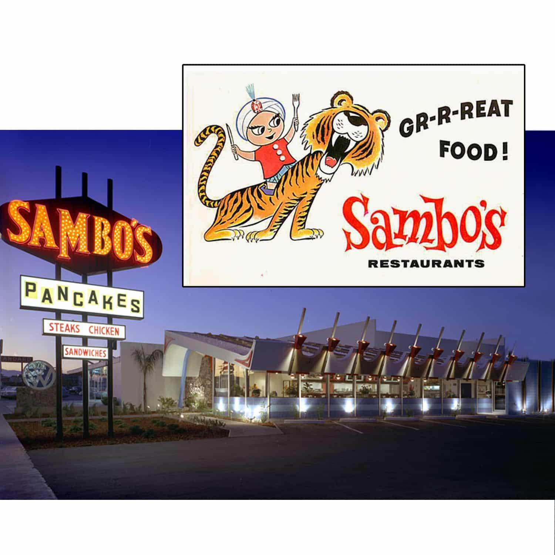 Sambos Sambo/'s defunct restaurant Sign .. fast food
